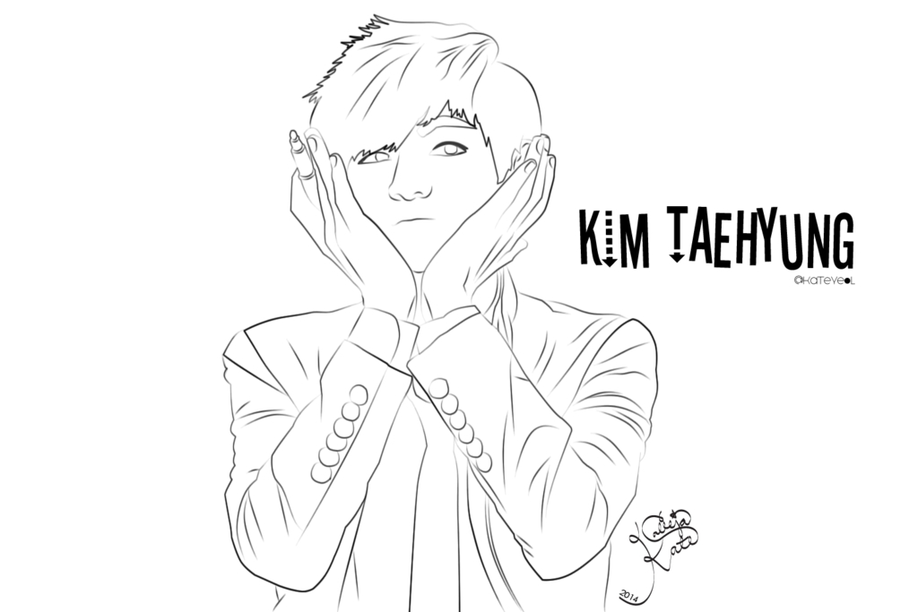 coloring pages blood - Kim Taehyung
