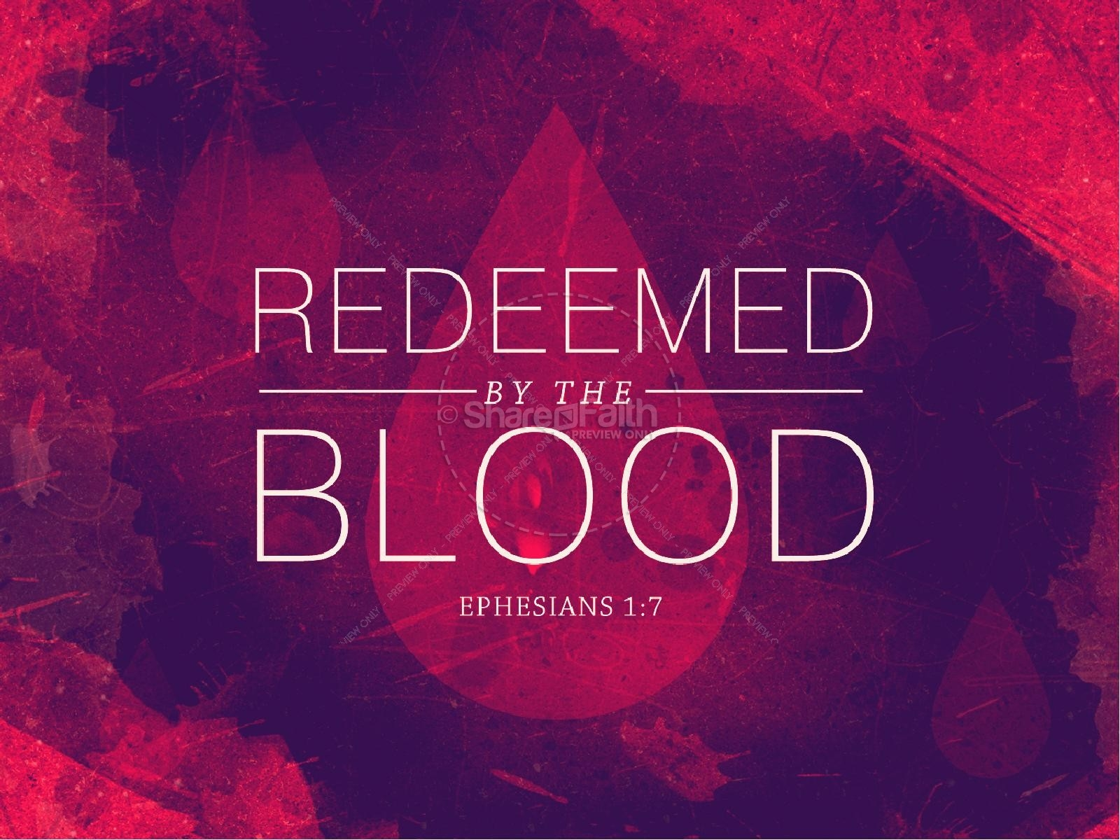 coloring pages blood - redeemed by the blood religious powerpoint