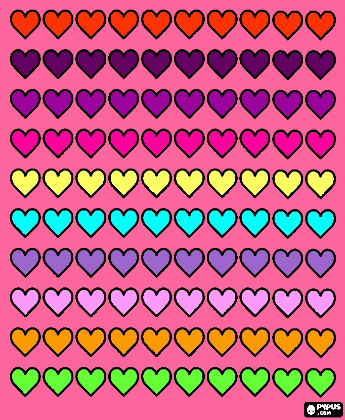 coloring pages coloring book - coloring page ivys 100 hearts