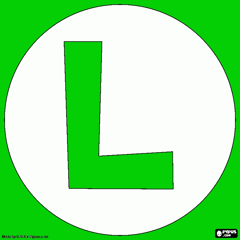 coloring pages coloring book - coloring page luigi logo