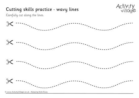 coloring pages for 2 year olds - cutting wavy lines