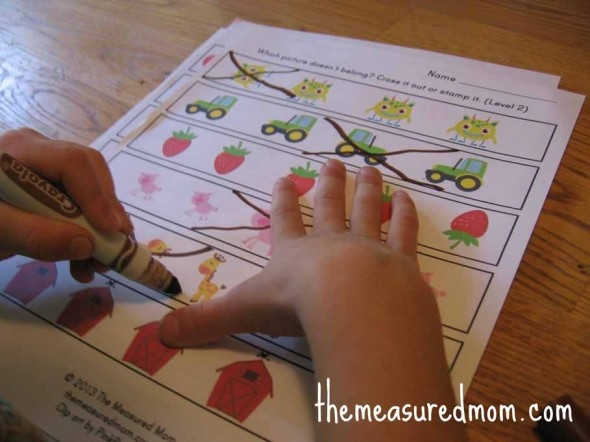 coloring pages for 2 year olds - which one is different worksheets for preschool and kindergarten