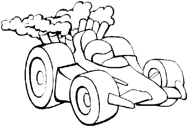 coloring pages for 3 year olds - dibujo coches infantiles para a panarlo a colorear