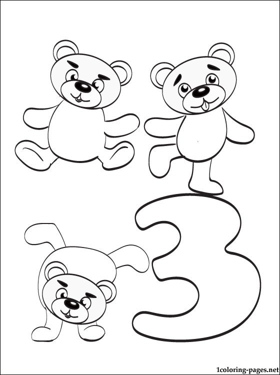 coloring pages for 3 year olds - number 3 coloring pages