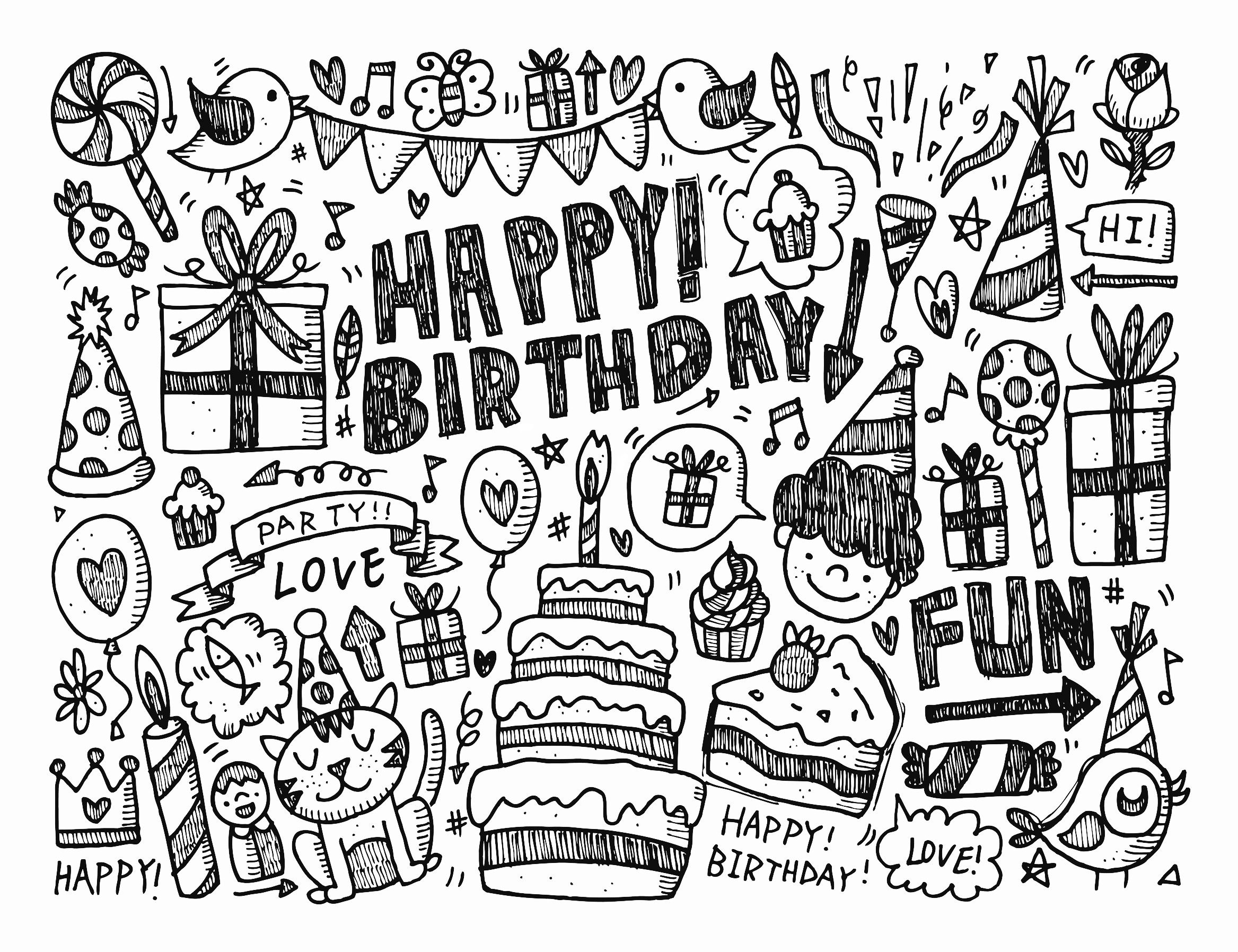 coloring pages for adults quotes - image=doodle art doodling coloring doodle happy birthday by notkoo2008 1