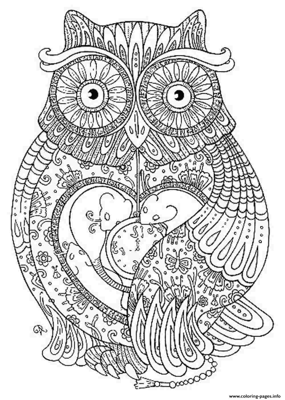 coloring pages for adults to print - animal coloring pages for adults printable coloring pages book 9142