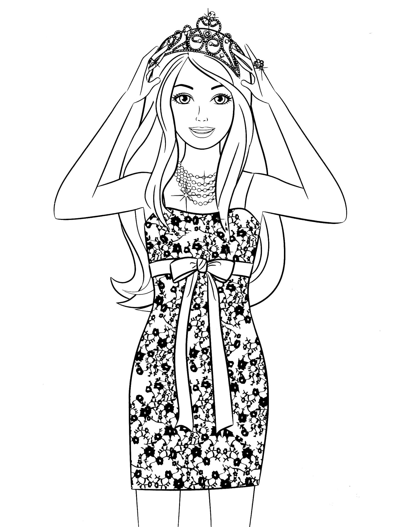 coloring pages for boys - barbie coloring page 89