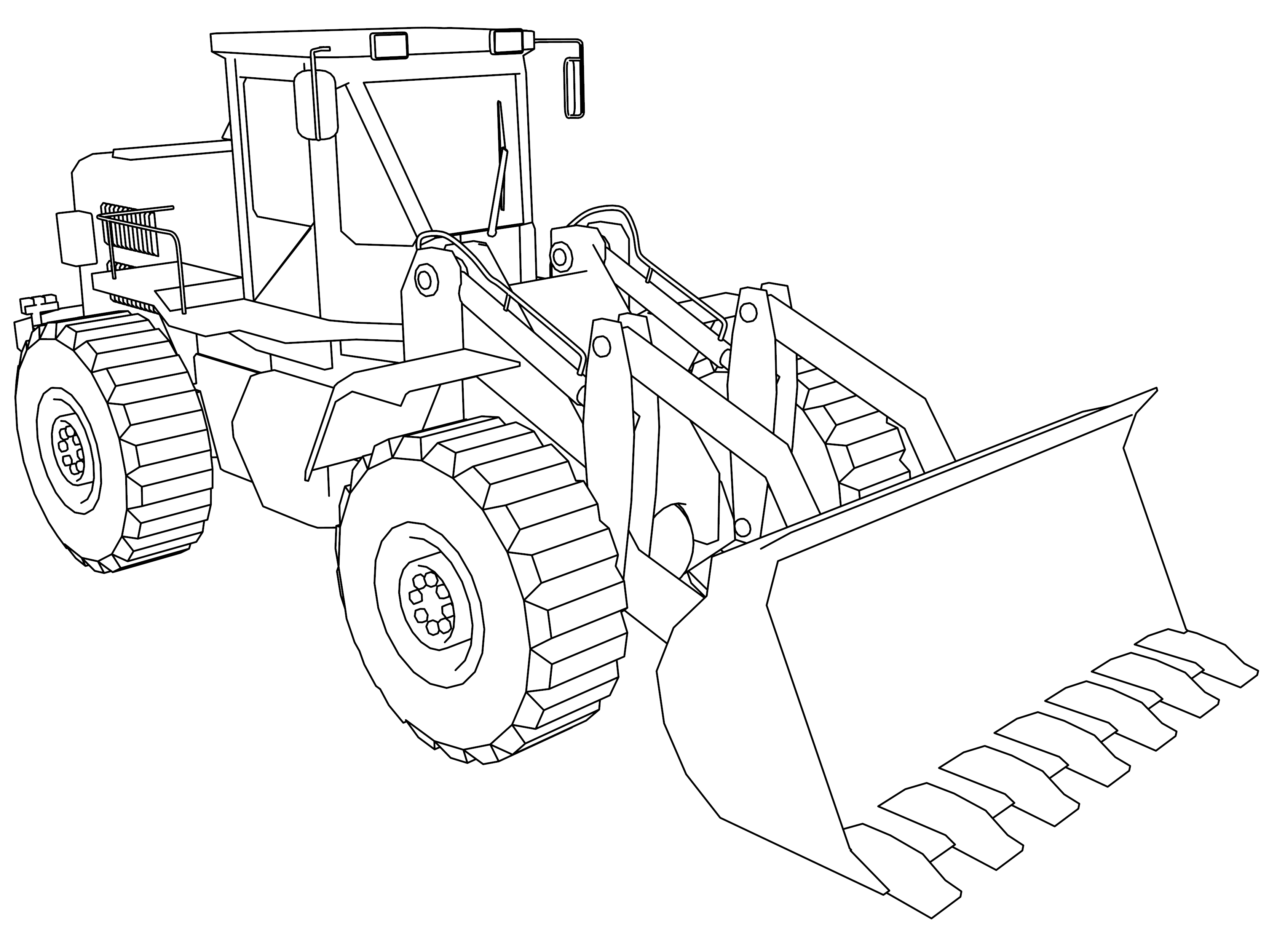 coloring pages for boys - construction coloring pages