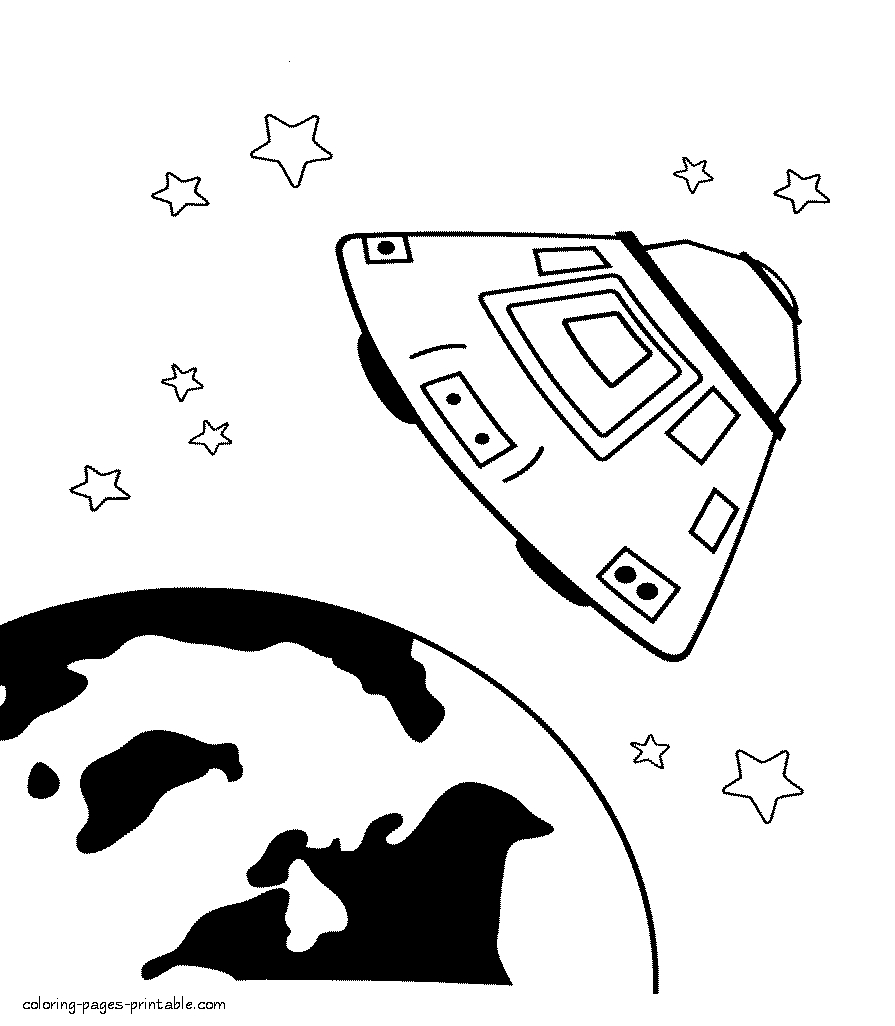 coloring pages for boys - space coloring pages 14