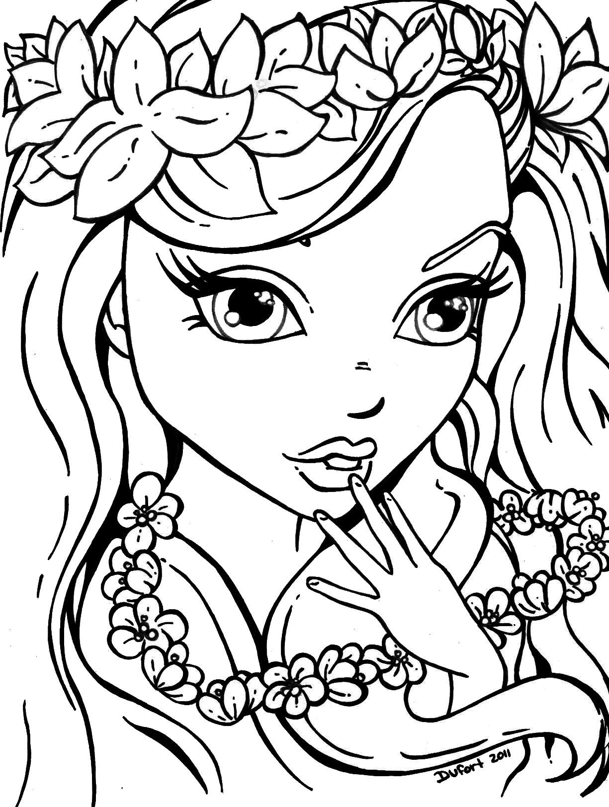 coloring pages for girls - coloring pages for teenage girls