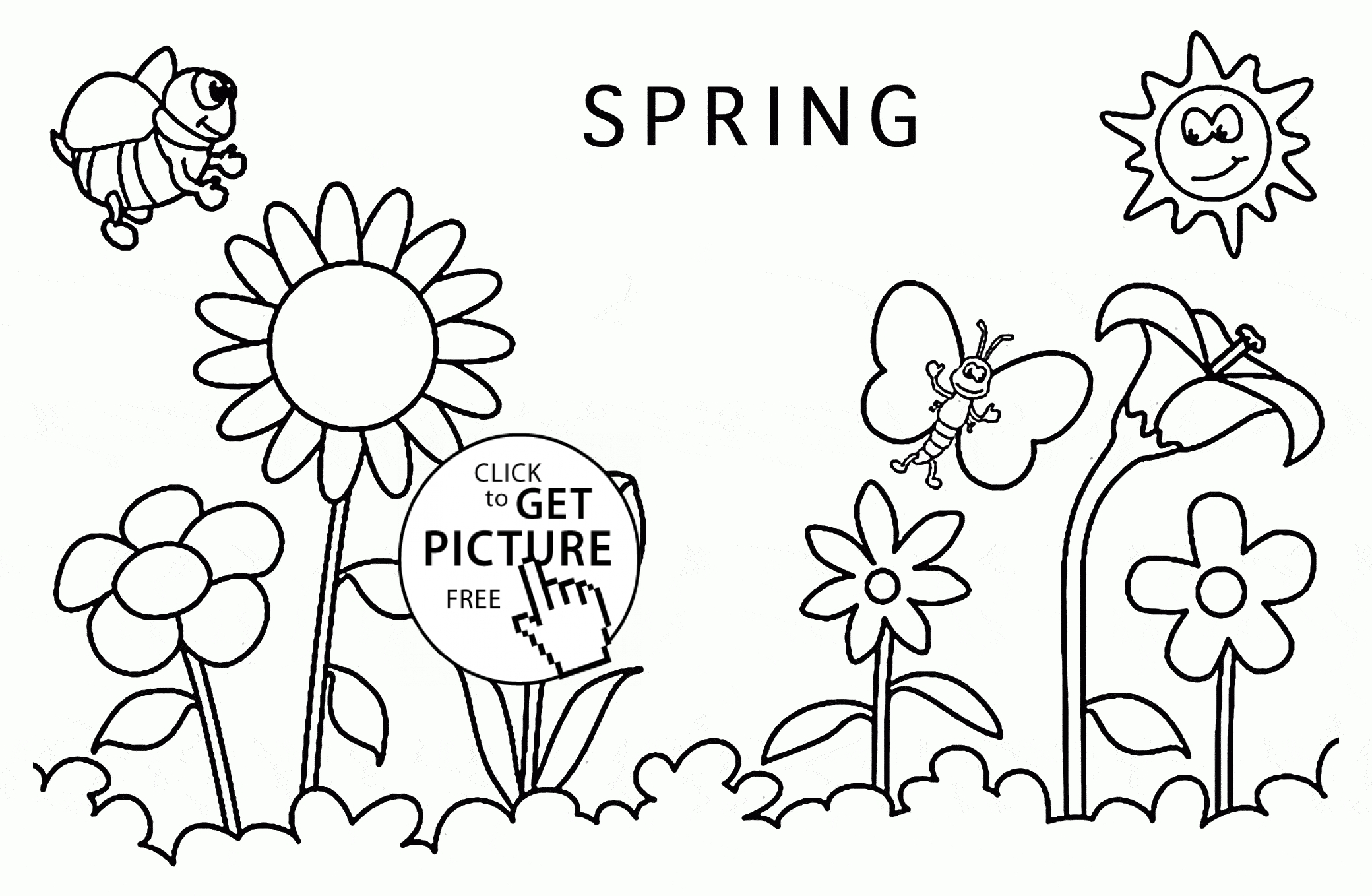 coloring pages for kid - spring around coloring page for kids seasons coloring pages printables free