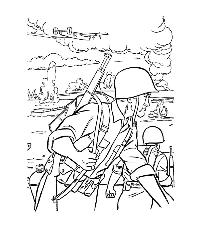 coloring pages for men - army coloring pages