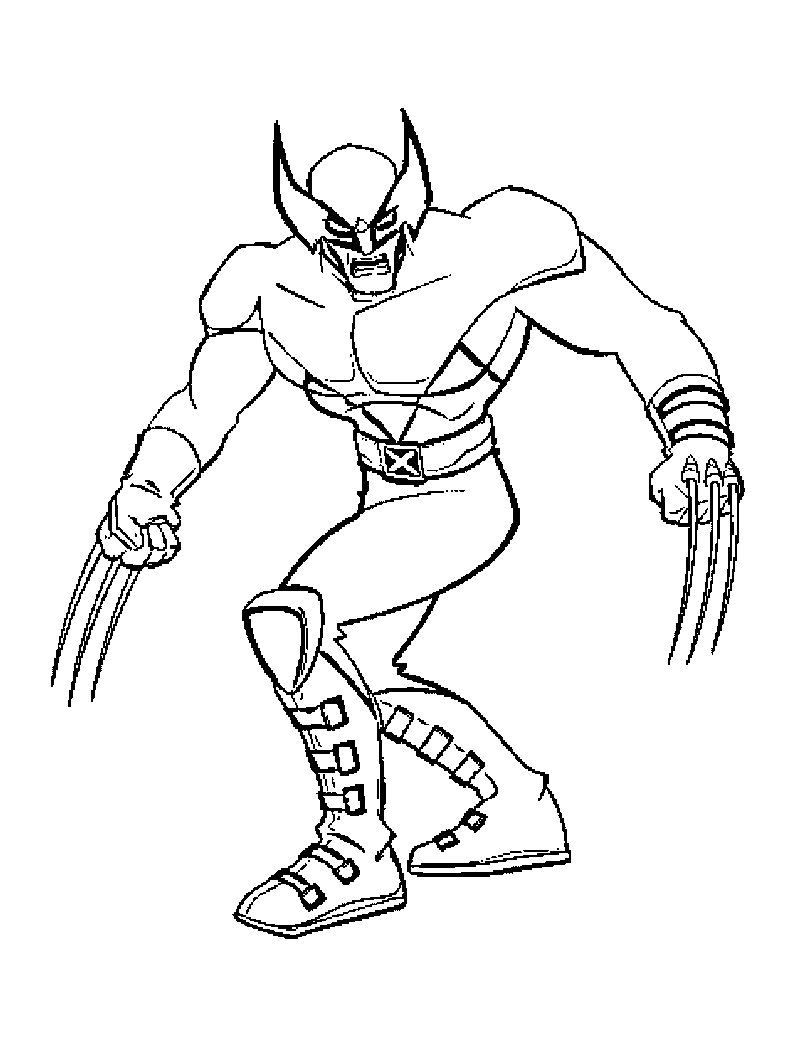 coloring pages for men - x men coloring pages