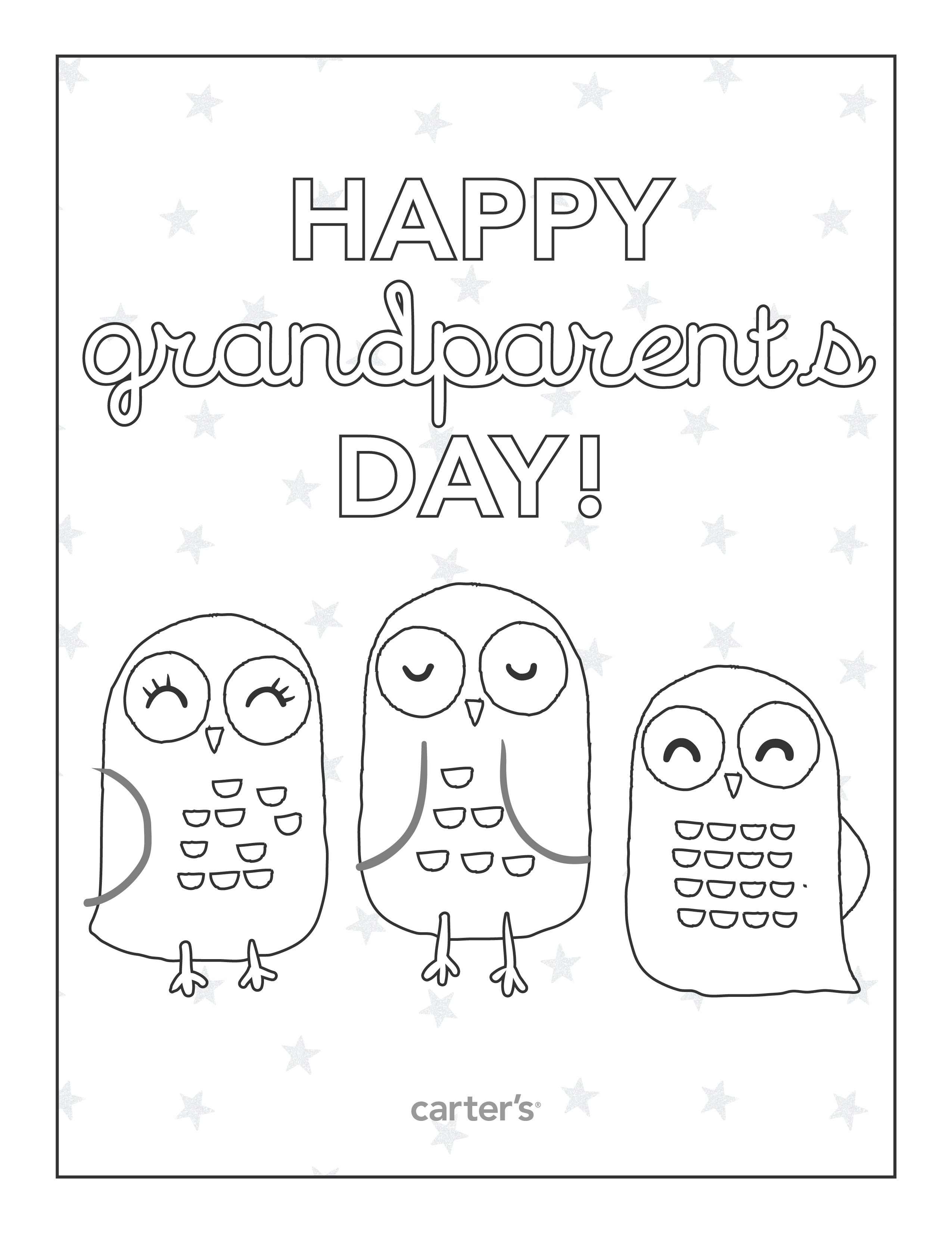 coloring pages for mother's day cards - post grandparents day printable coloring cards