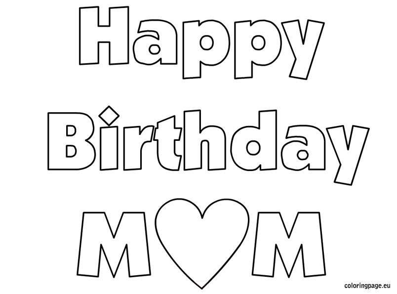 coloring pages for mother's day cards -