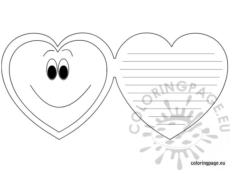 coloring pages for mother's day cards - valentines day greeting card