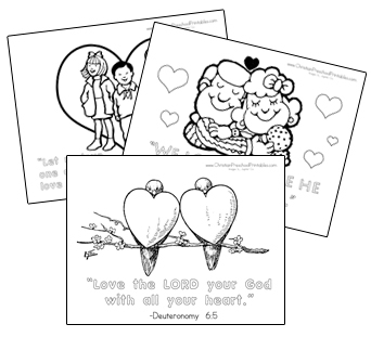 coloring pages for seniors - valentines day bible printables