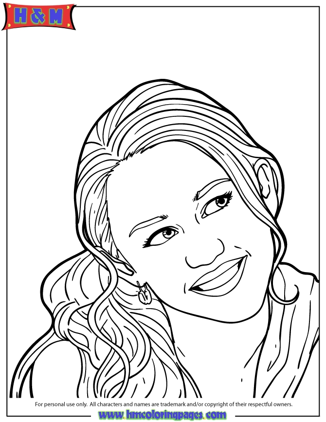 coloring pages for tweens - teen sit hannah montana