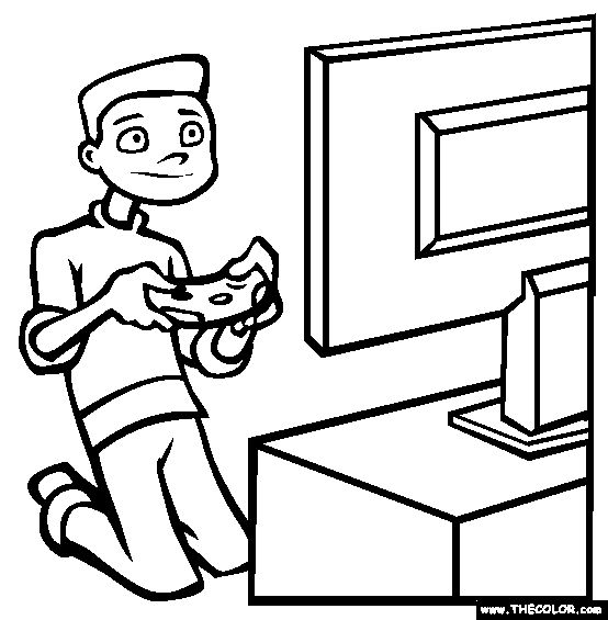 coloring pages games - video game coloring pages