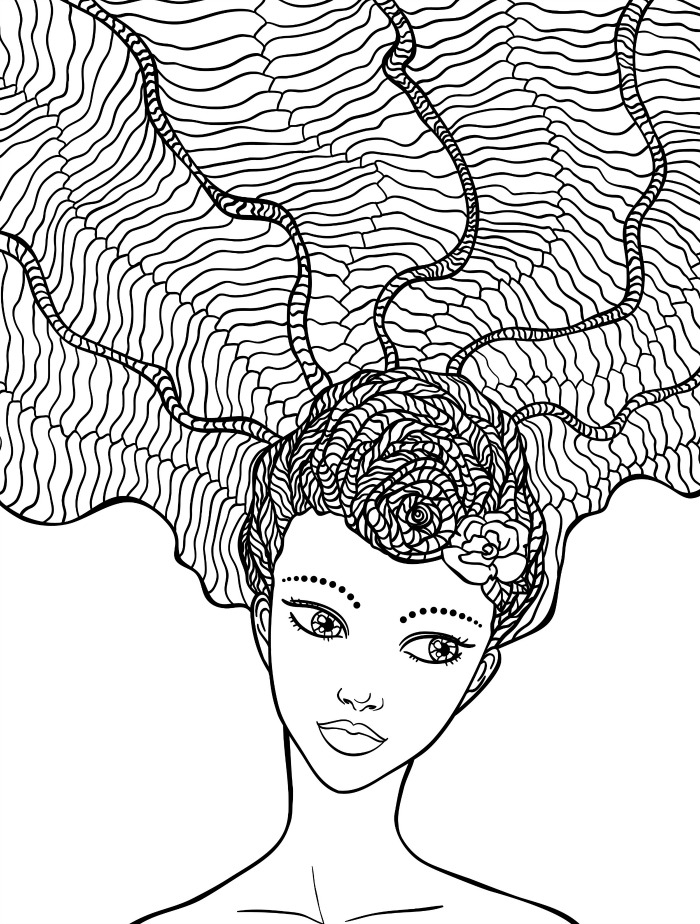 coloring pages hair - 3