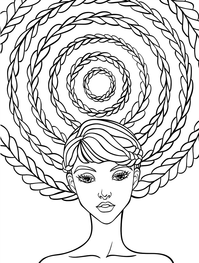 coloring pages hair - 7