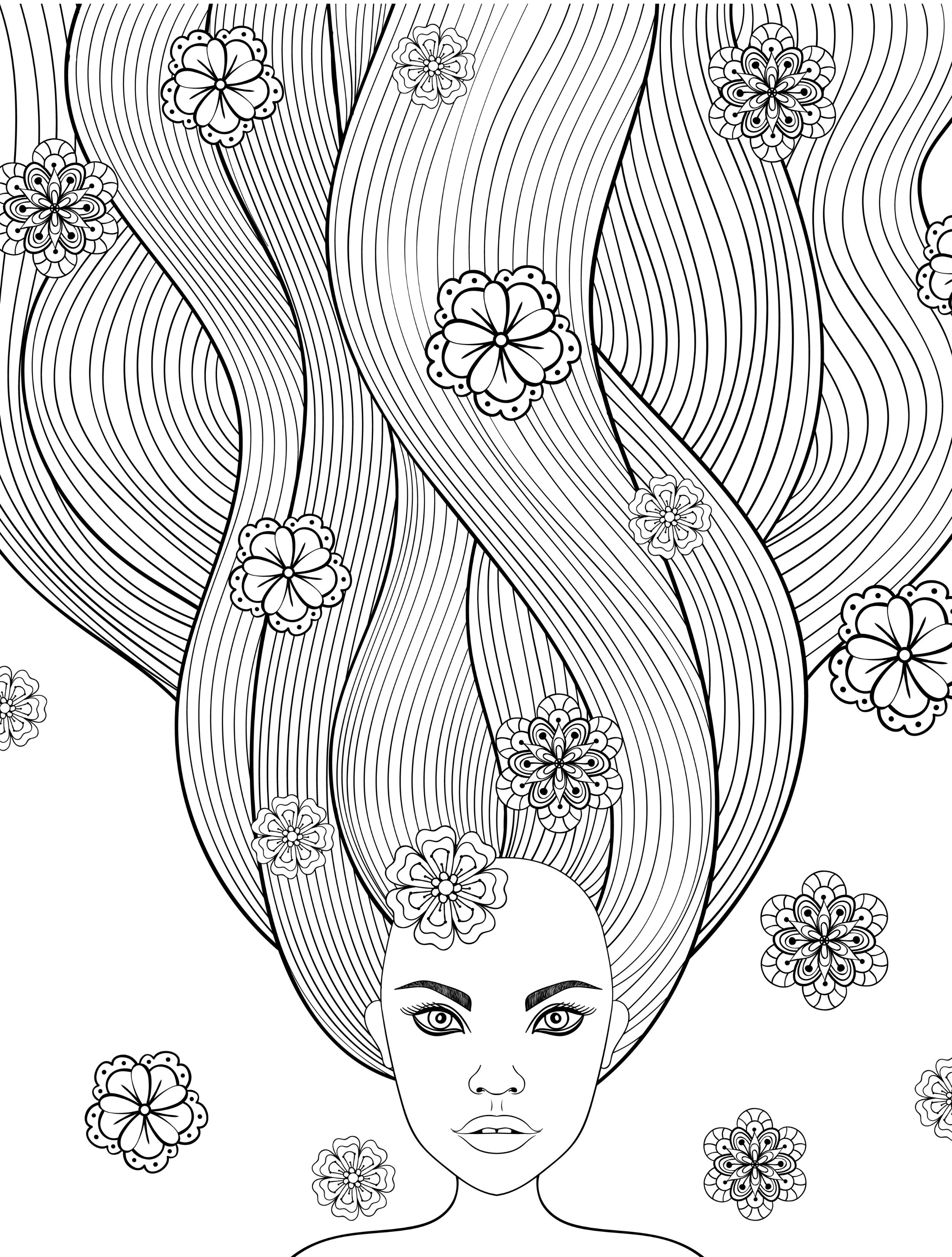 coloring pages hair - 8