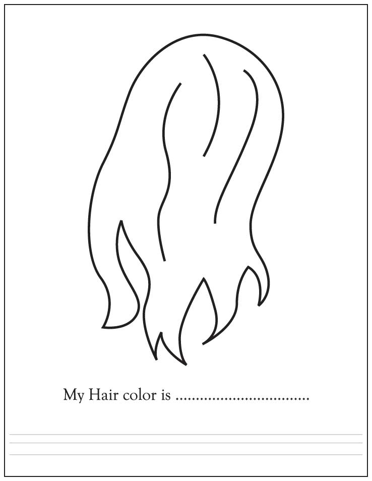 coloring pages hair - hair color 1d3509