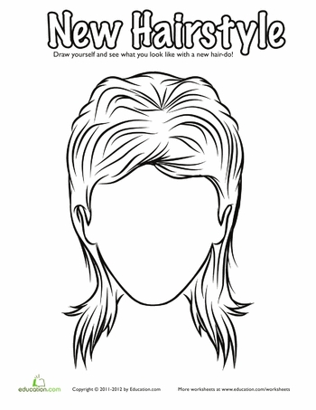 coloring pages hair - hair coloring page