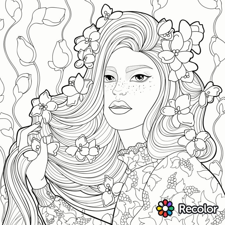 coloring pages hair - hair coloring pages