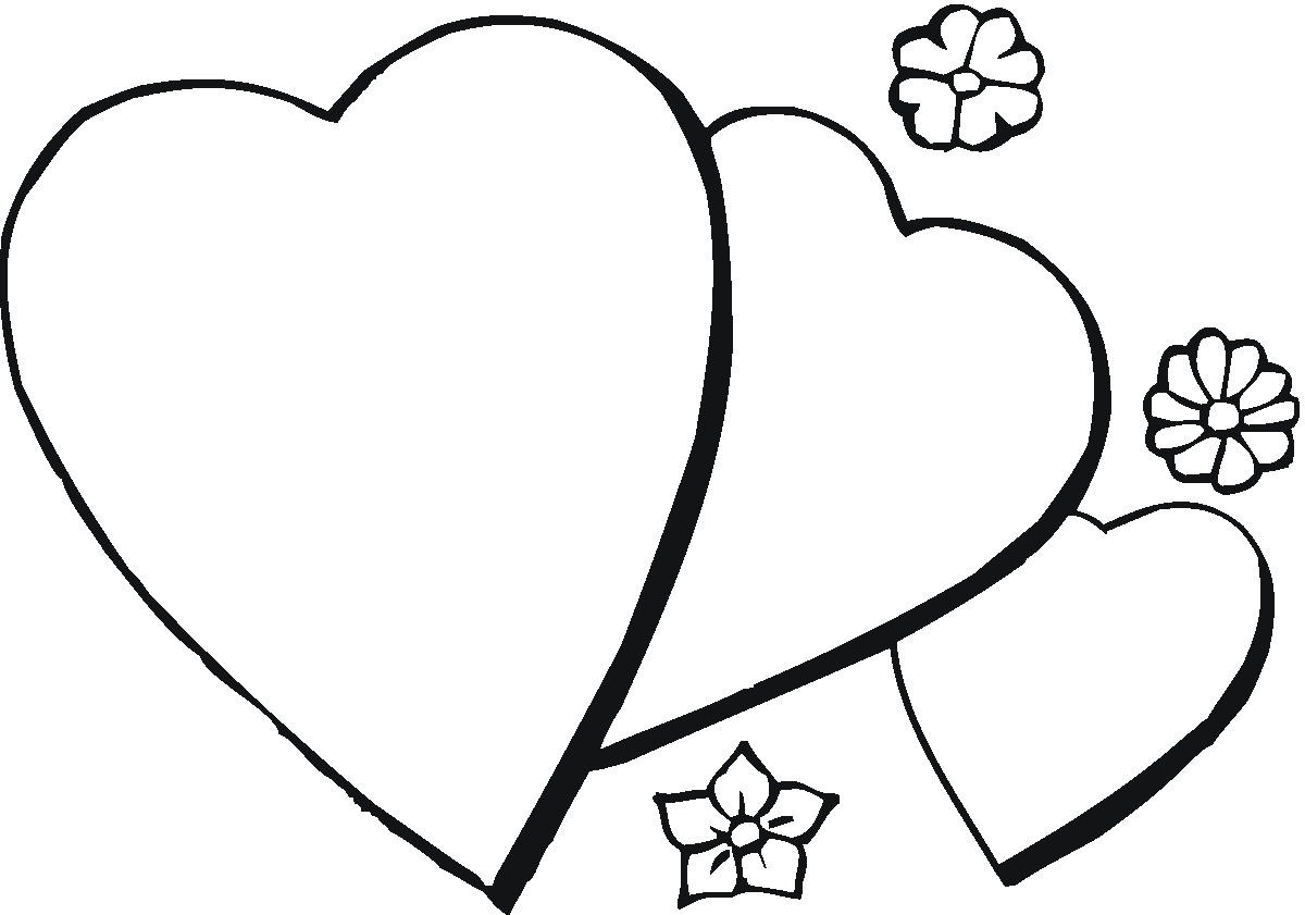 coloring pages of hearts and flowers - heart coloring pages