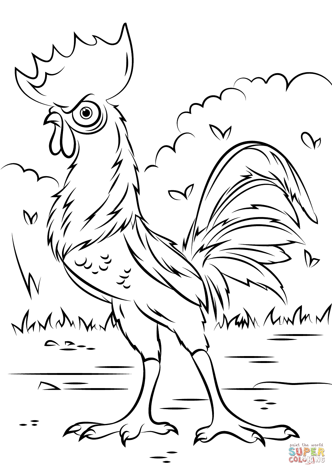coloring pages of moana -