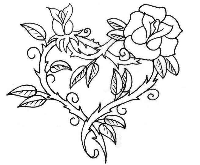 coloring pages of roses and hearts - free coloring pages of hearts for valentine and precious moments