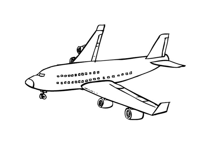 coloring pages online - plane coloring pages 6