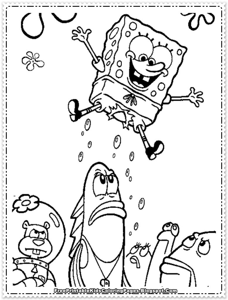 coloring pages that you can print - spongebob coloring pages that you can print
