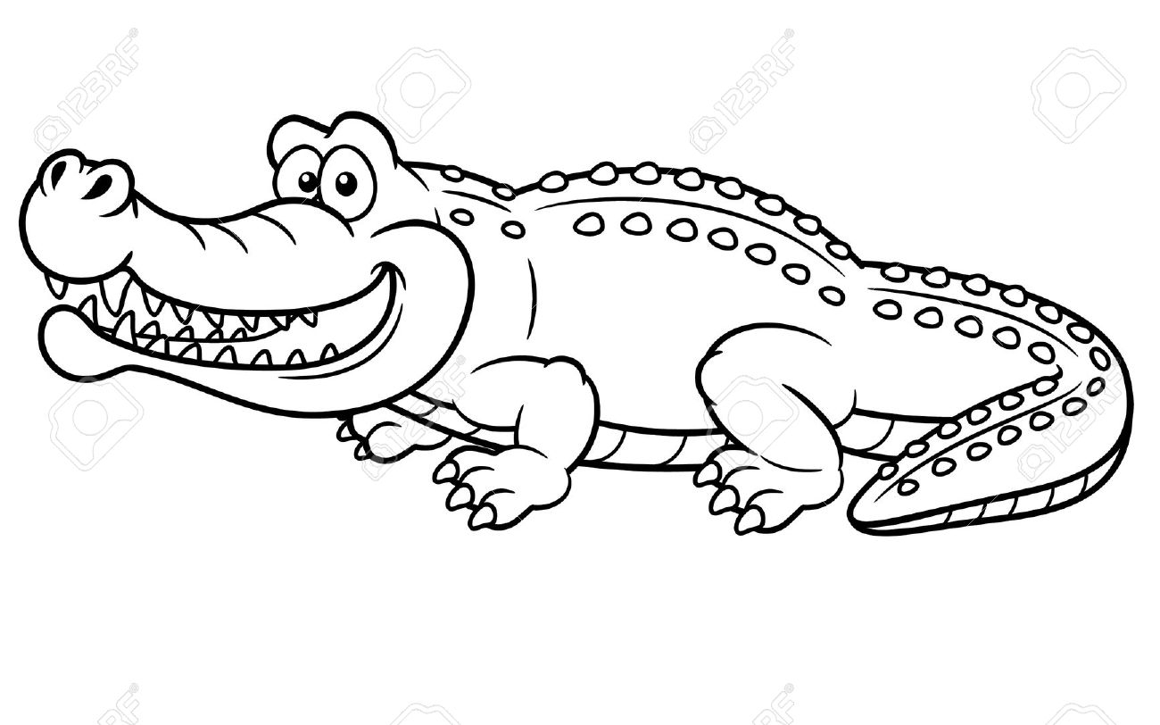 coloring pages to color - crocodile coloring pages