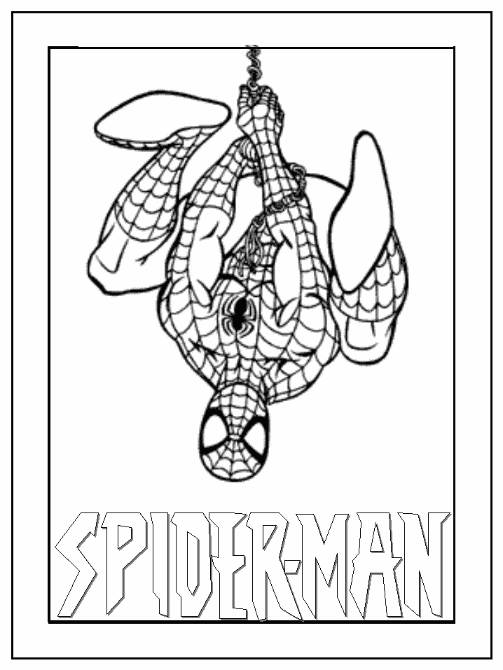 coloring pages to color online for free - black spiderman coloring pages