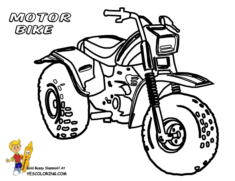coloring pages to color online for free - motorcycle coloring pages for kids