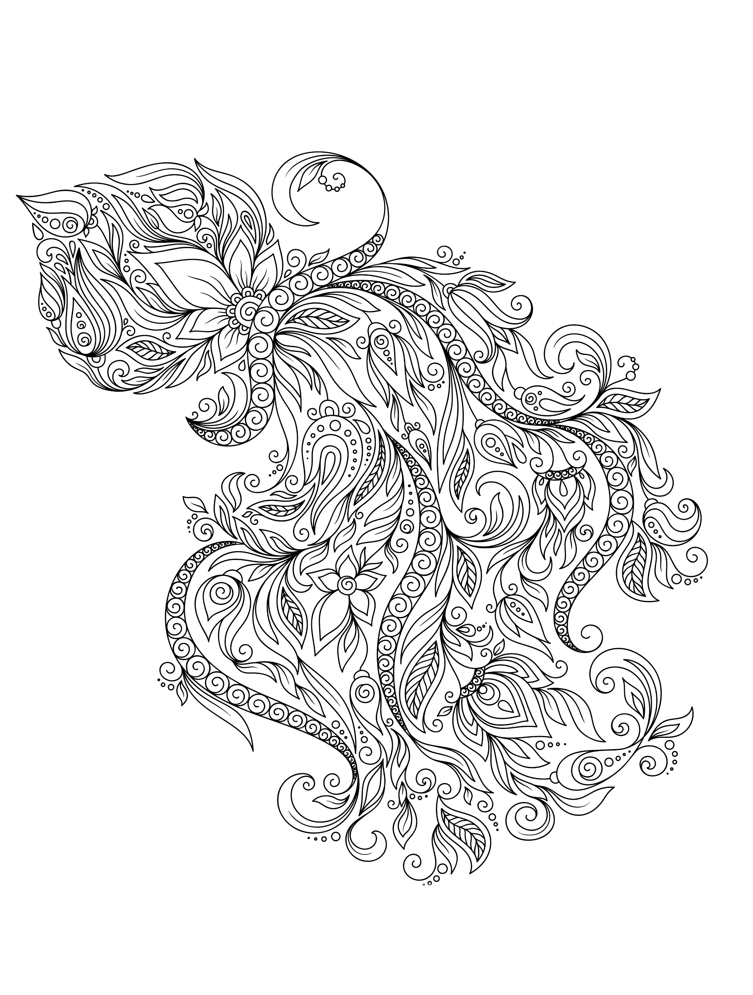 Coloring Pages to Color Online for Free for Adults - 23 Free Printable Insect & Animal Adult Coloring Pages