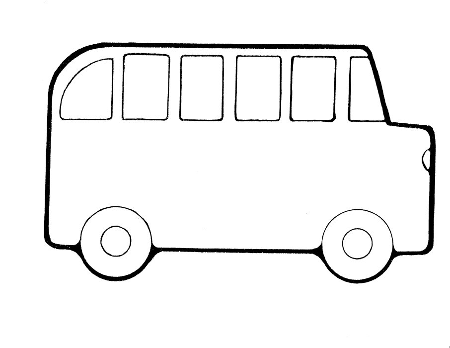 coloring pages to print - school bus coloring page
