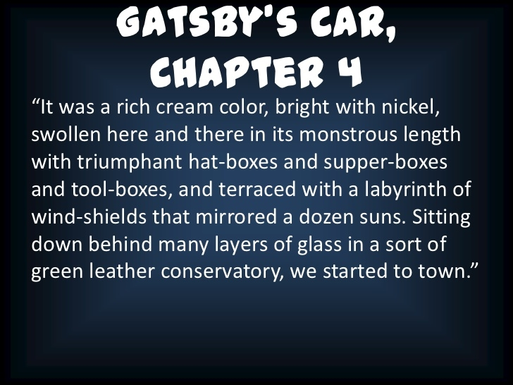 colors in the great gatsby with page numbers