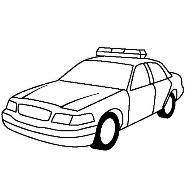 columbus day coloring pages - police car for highway patrol coloring page 2