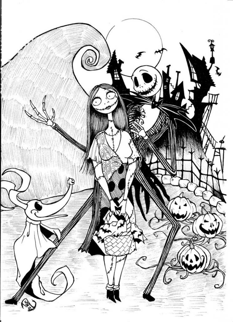 columbus day coloring pages - the nightmare before christmas coloring pages