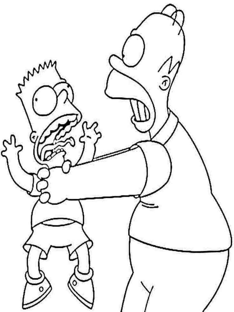 columbus day coloring pages - the simpsons coloring pages