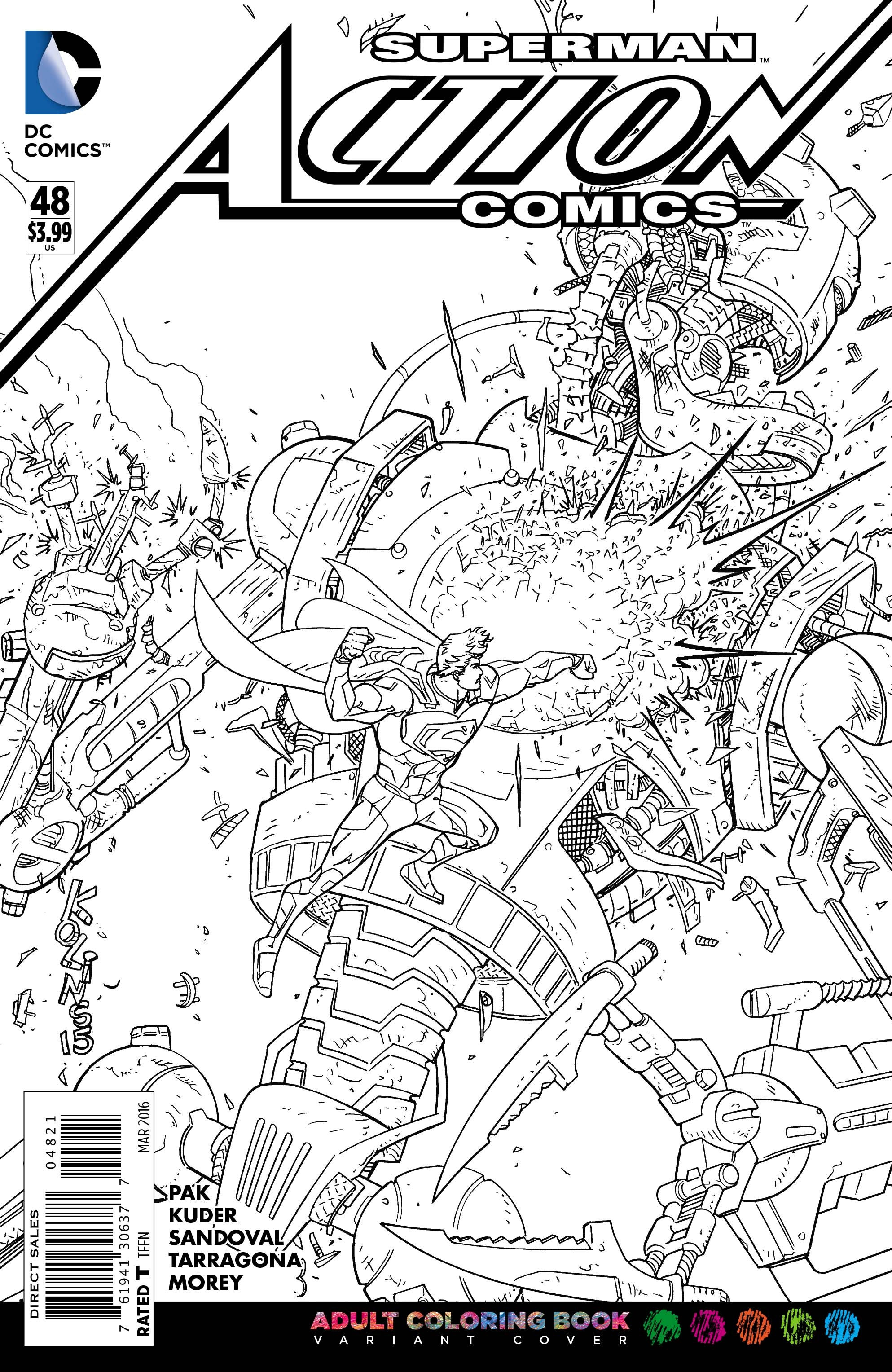 comic book coloring pages -