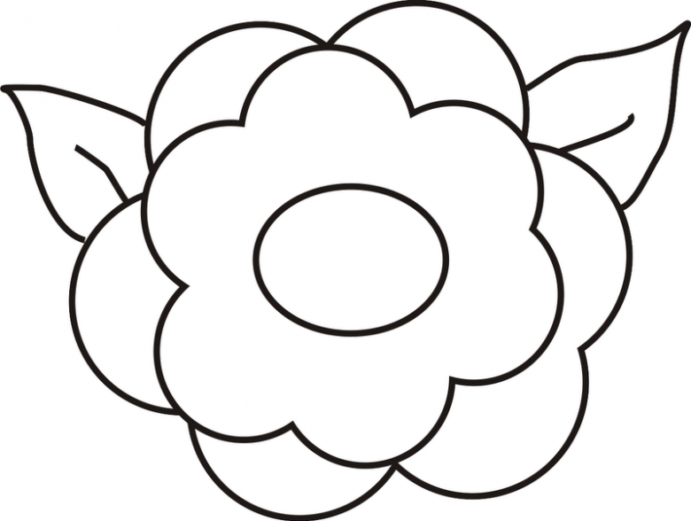 comic coloring pages - blumen 38