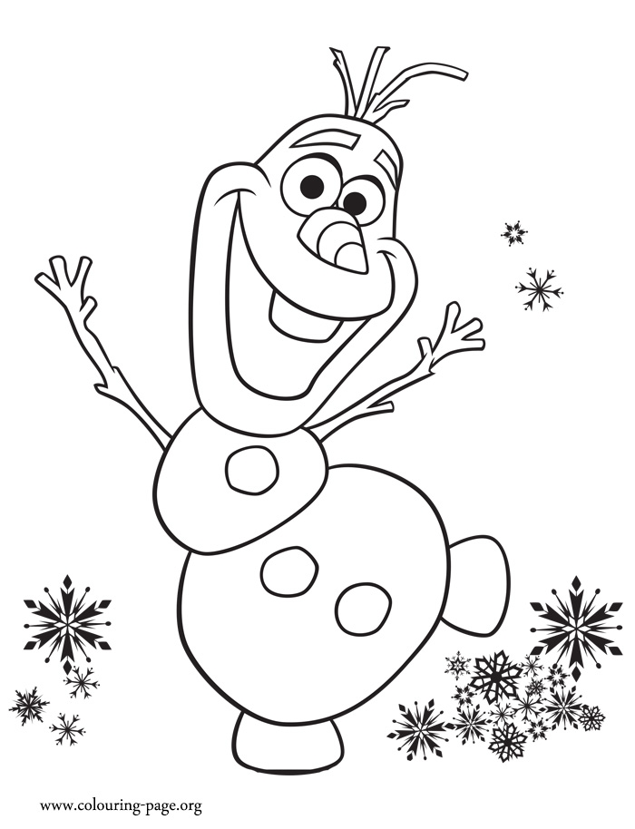 comic coloring pages - olaf