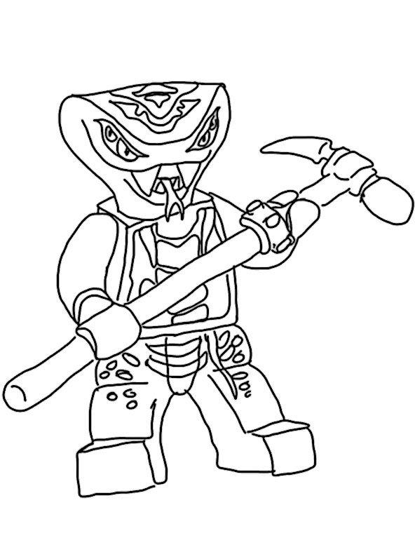 comic coloring pages - ninjago 2