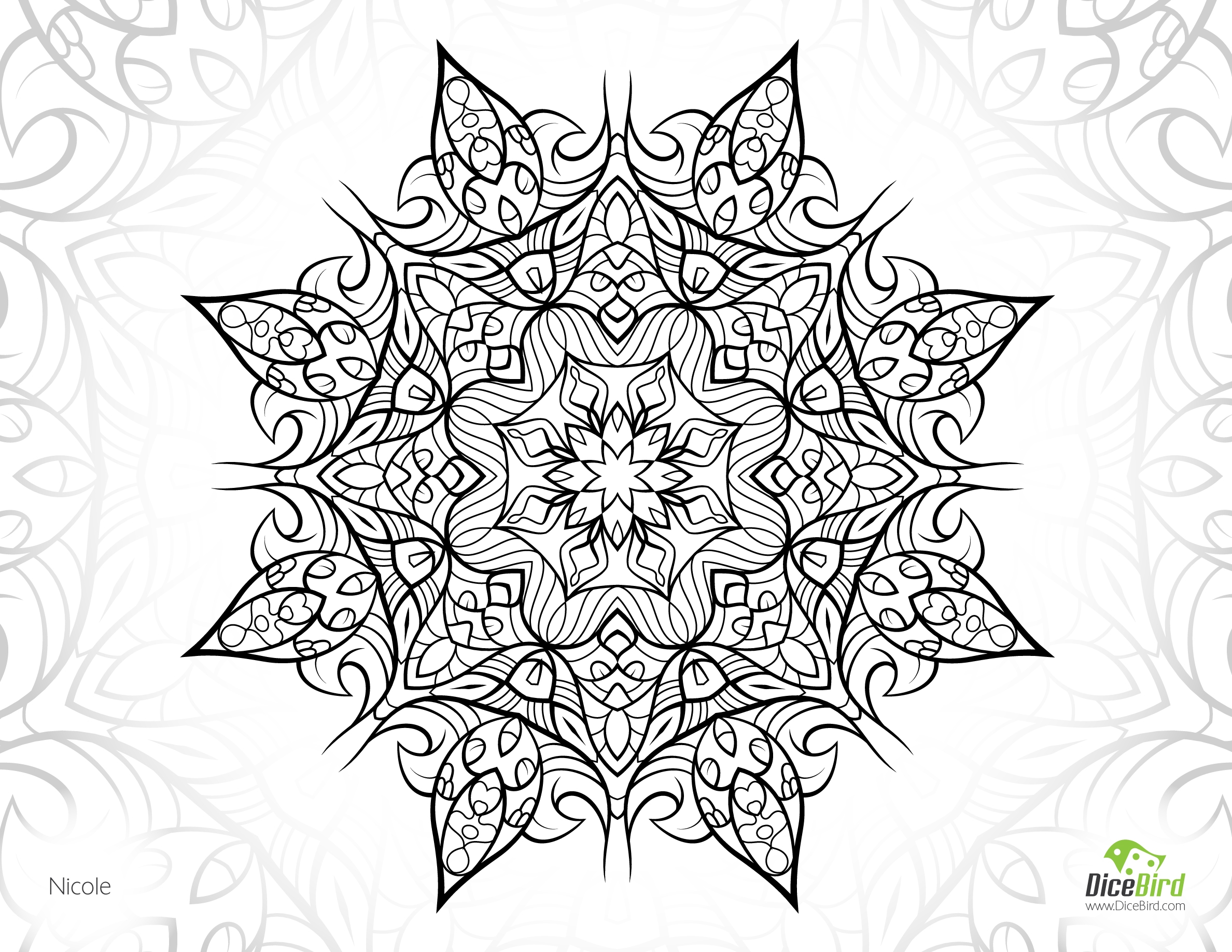 complex coloring pages - nicole flower free printable plex coloring pages