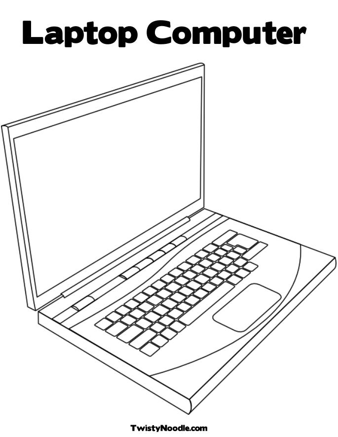computer coloring pages - r=keyboard of puter