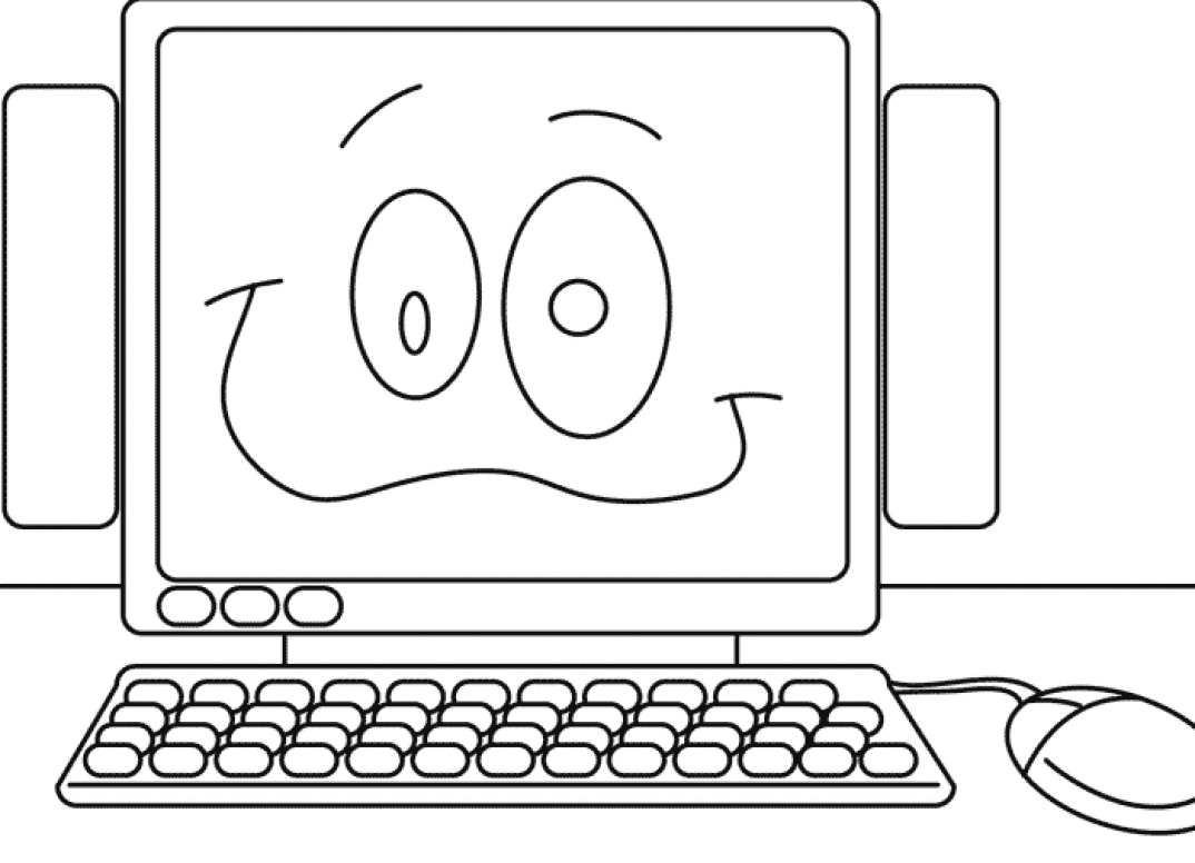 Computer Coloring Pages - Puter Coloring Pages Coloringpages1001